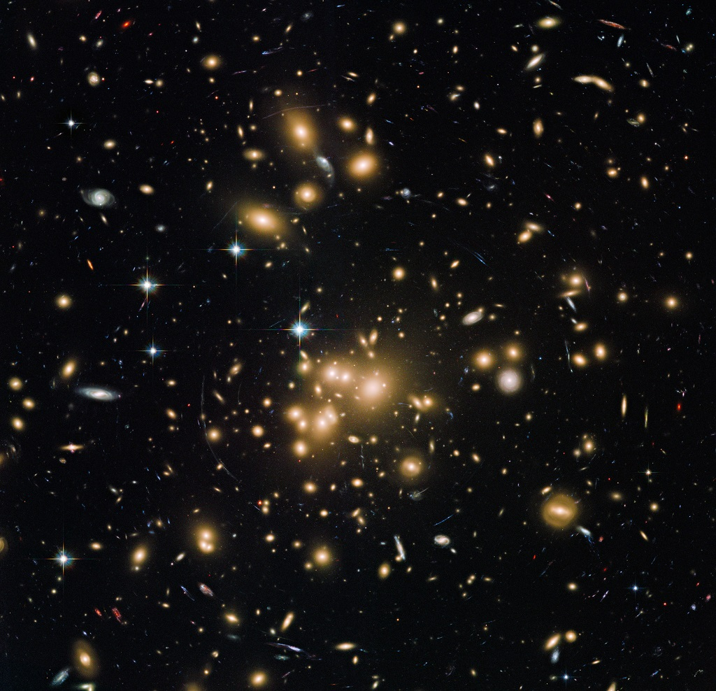 Abell 1689, a galaxy cluster in Virgo