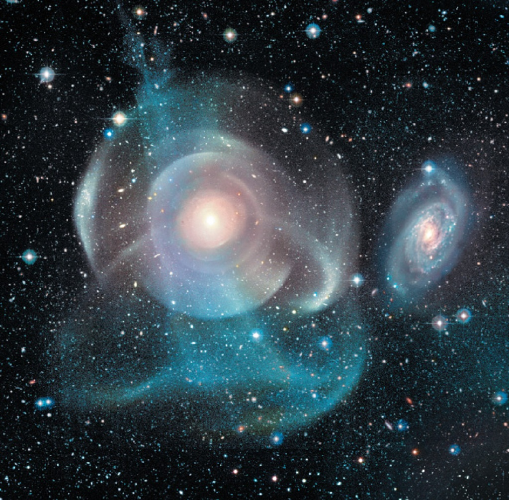 Arp 227, a pair of interacting galaxies