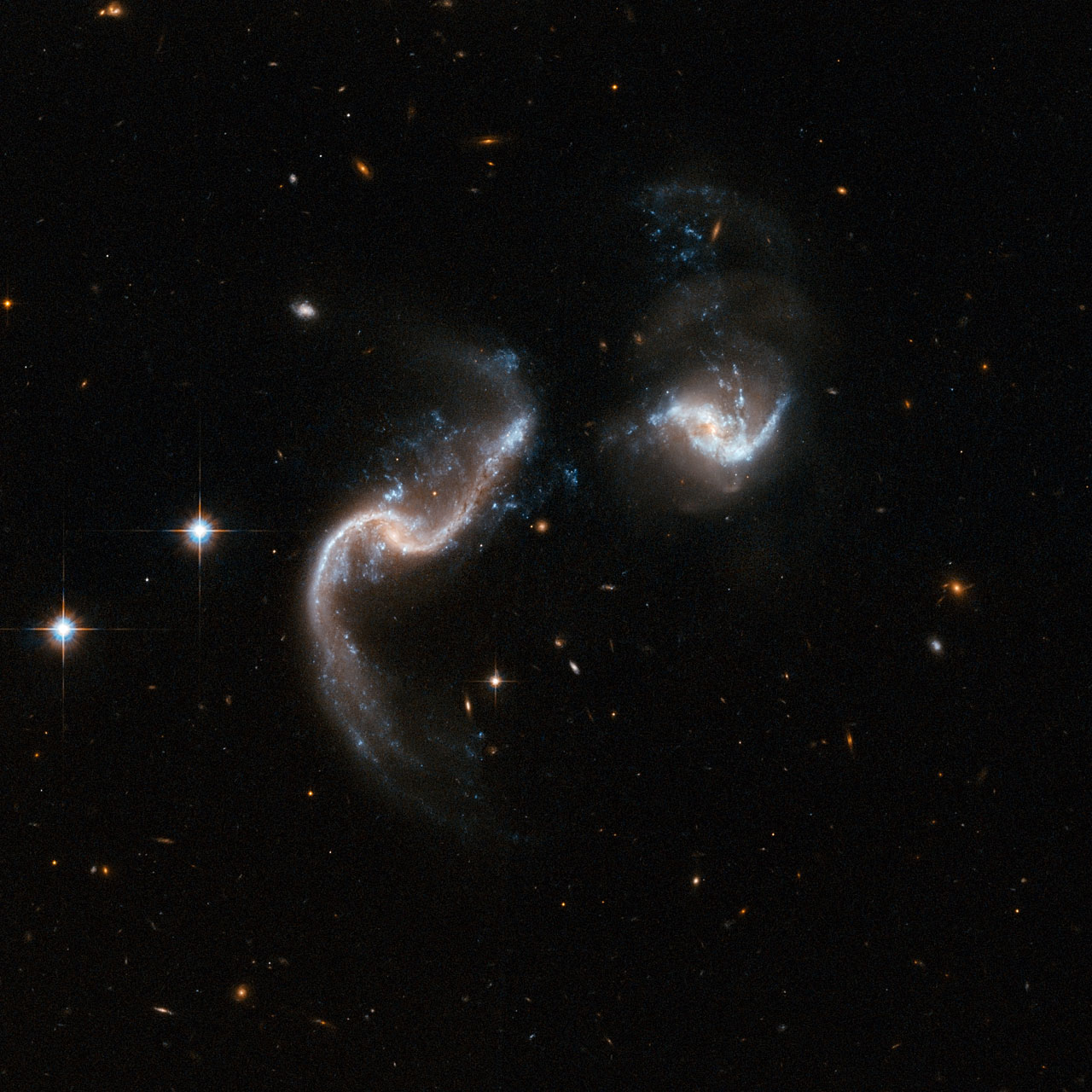 Arp 256, a colliding pair of galaxies