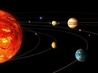 Artist impression of the Solar System