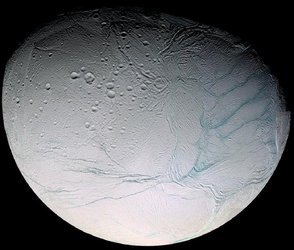 Enceladus, the sixth-largest moon of Saturn