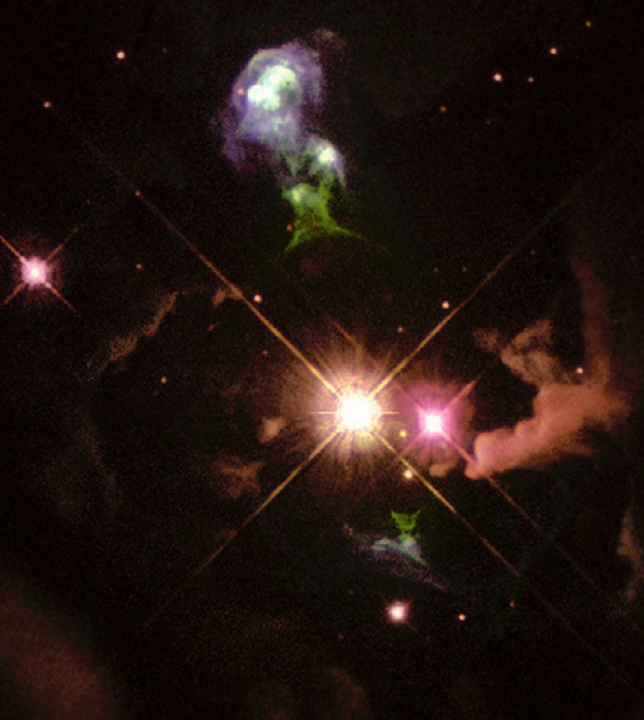Herbig-Haro 32, a bright Herbig–Haro object in Aquila