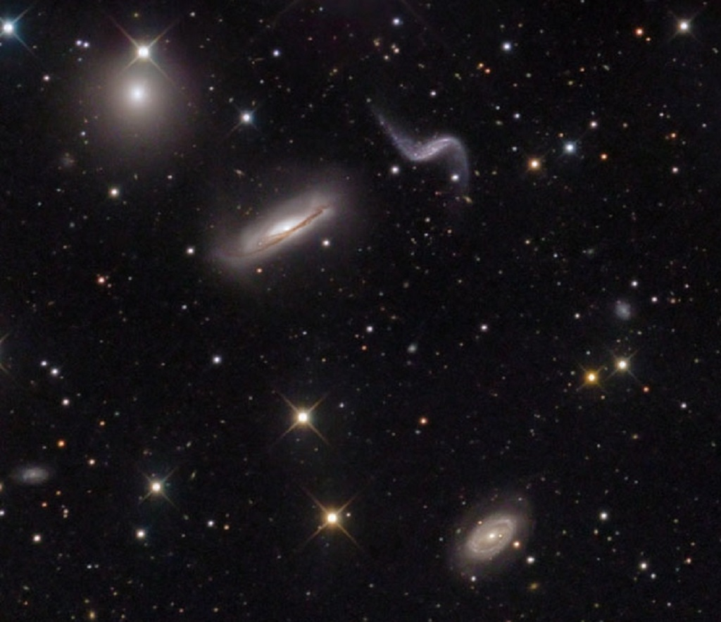 Hickson Compact Group 44, a small group of galaxies in Leo