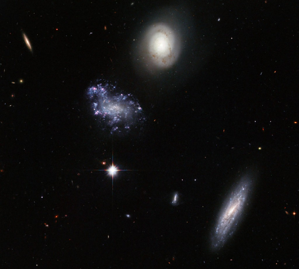 Hickson Compact Group 59, a group of galaxies in Leo