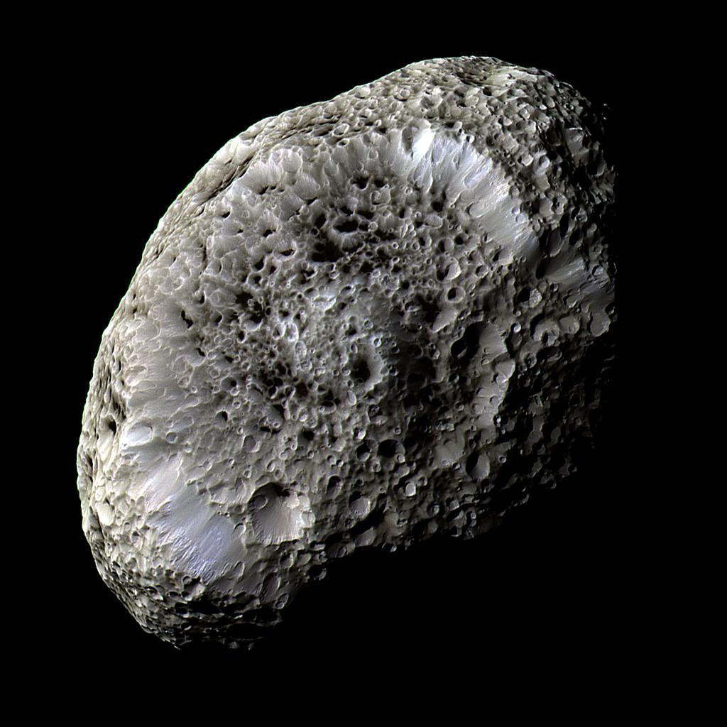 Saturn's irregularly-shaped moon Hyperion