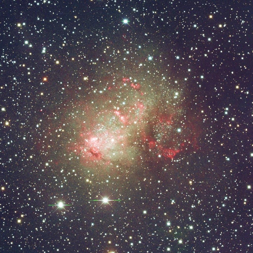 IC 10, a dwarf galaxy in Cassiopeia