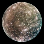Jupiter's moon Callisto has a surface that includes water ice, carbon dioxide, silicates, and organic compounds. It likely has a small silicate core and possibly a subsurface ocean of liquid water