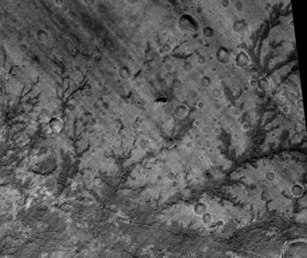 Mars' Inverted Stream Channels in Antoniadi Crater, in Syrtis Major quadrangle, as seen by HiRISE