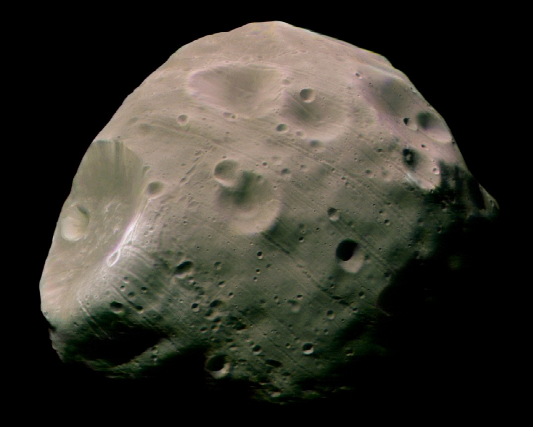 Mars's second moon Deimos, only 15 kilometres (nine miles) in width, and orbits Mars at 23,500 kilometres (14,580 miles) away