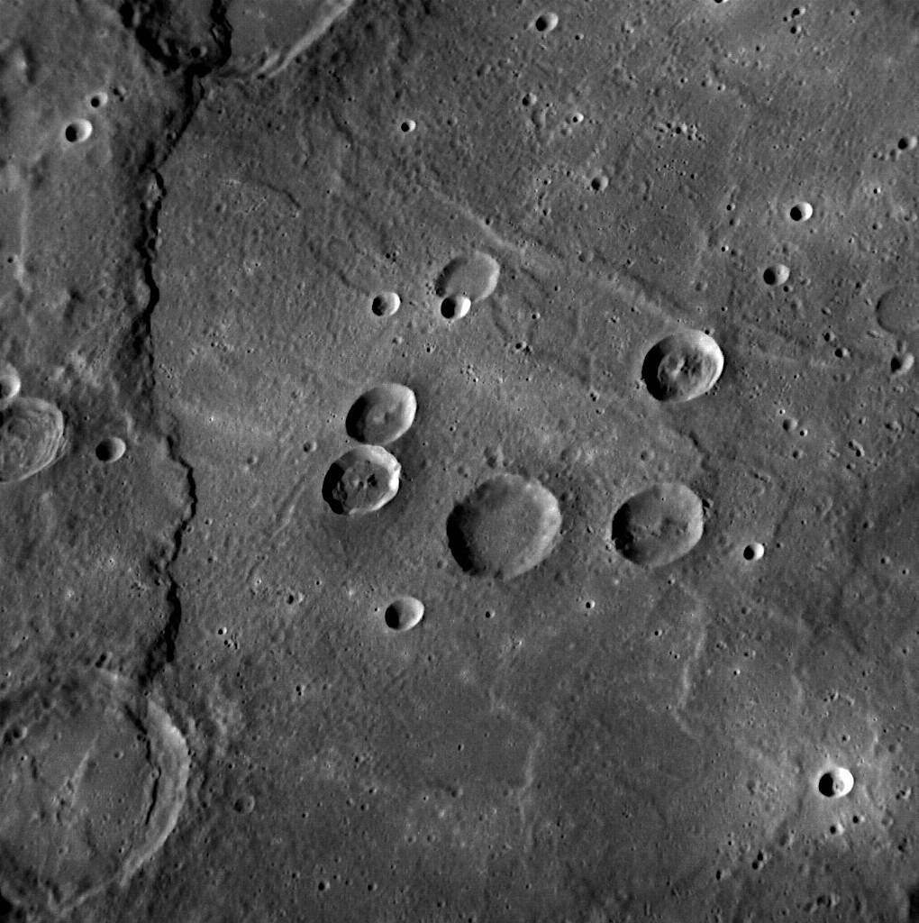 Mercury, the interior of the Rembrandt Impact Basin, taken by NASA MESSENGER