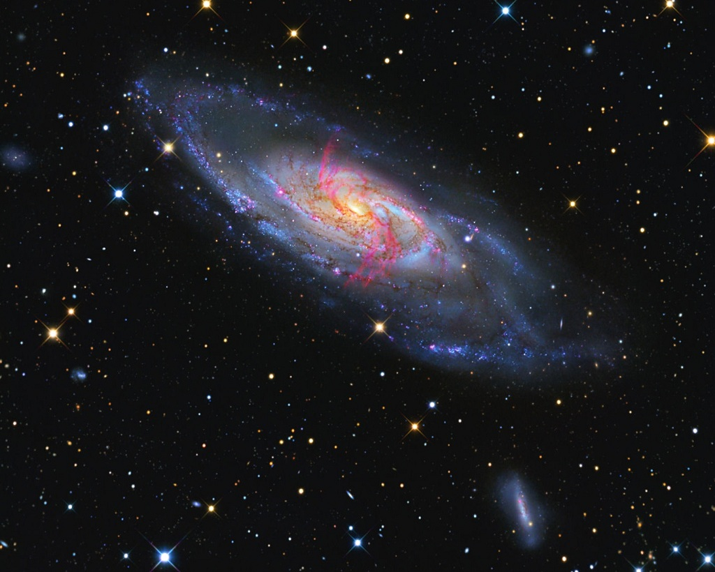 Messier 106, a spiral galaxy in Canes Venatici