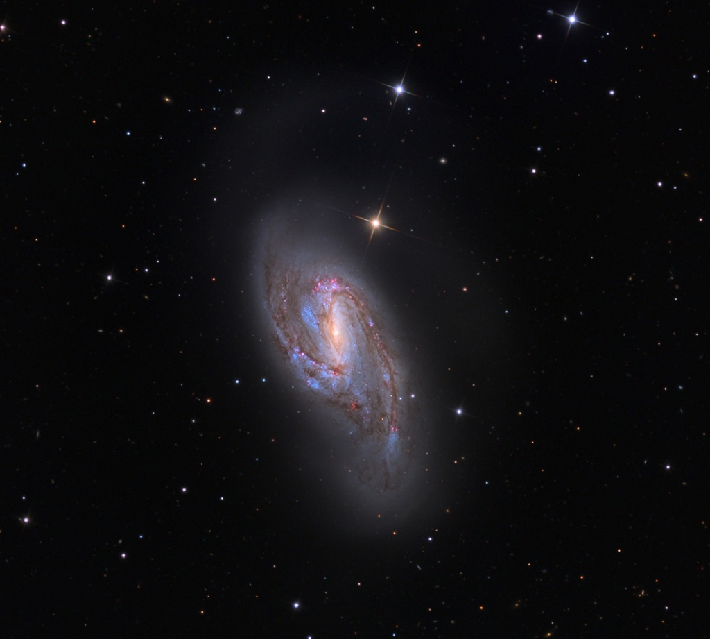 Messier 66, an intermediate spiral galaxy in Leo
