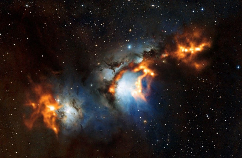 Messier 78 (NGC 2068), a bright reflection nebula in Orion
