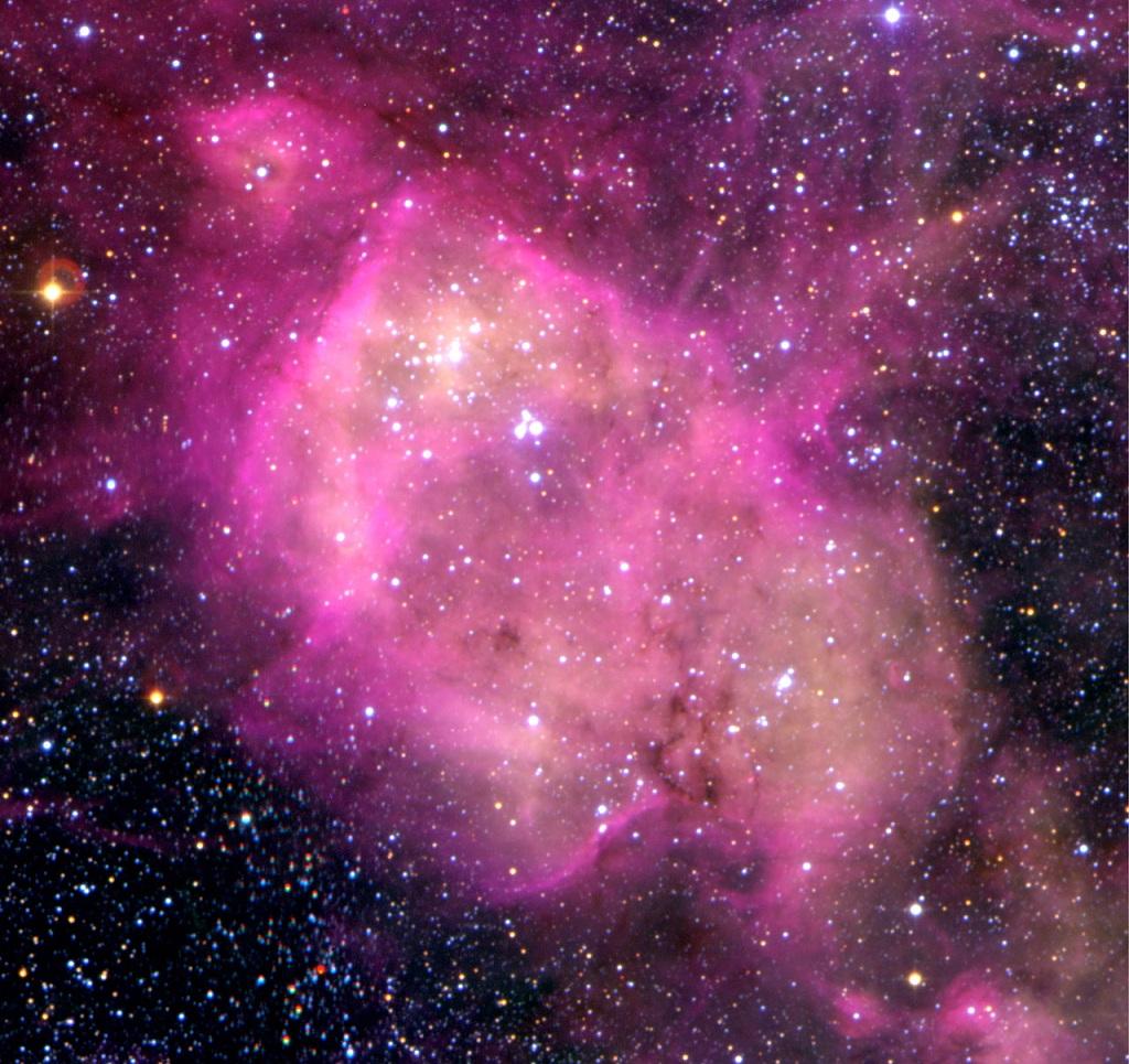N 164, a bright emission nebula in the LMC