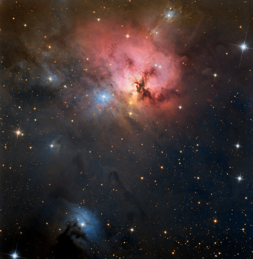NGC 1579, a reflection and emission nebula in Perseus