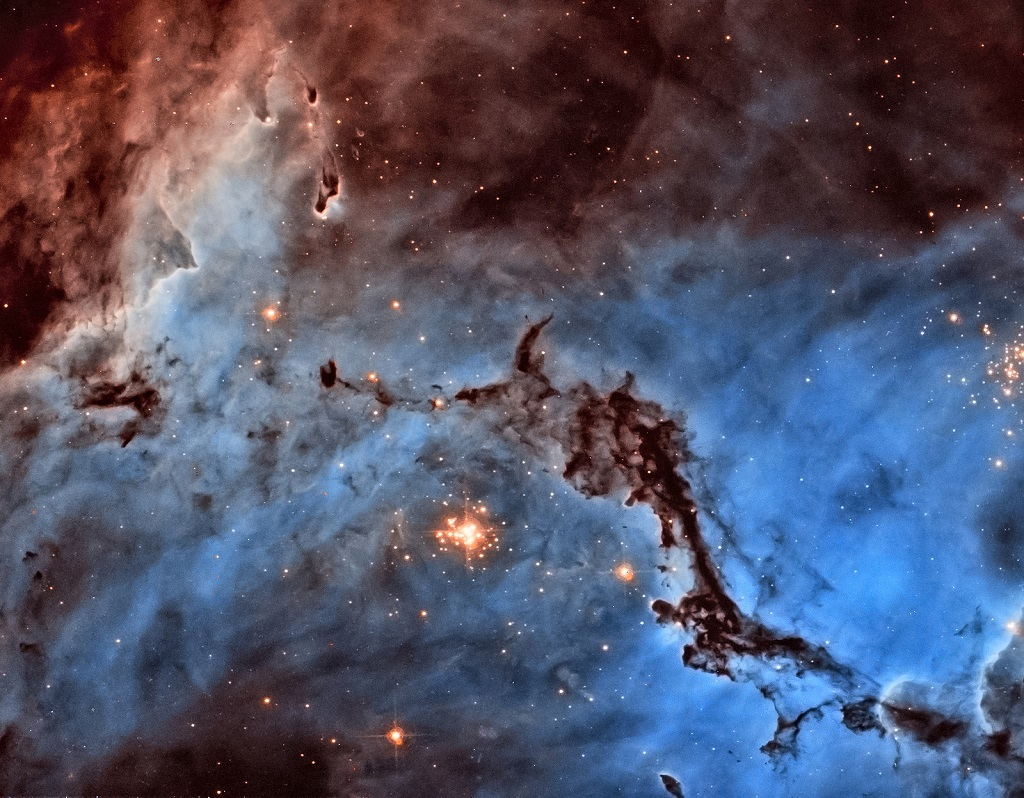 NGC 1763,  an emission nebula in the LMC