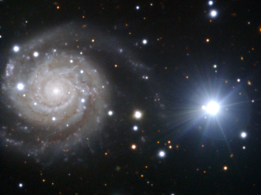 NGC 3244, a spiral galaxy in Antlia