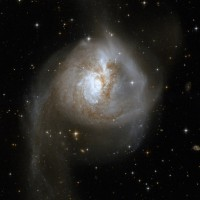 NGC 3256, a distorted spiral galaxy in Vela