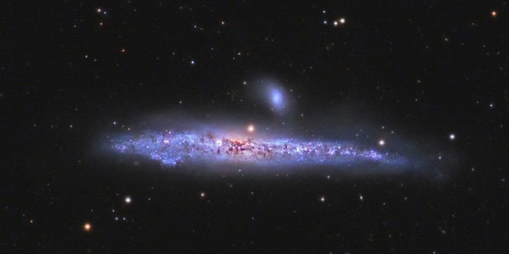 NGC 4631, a barred spiral galaxy in Canes Venatici