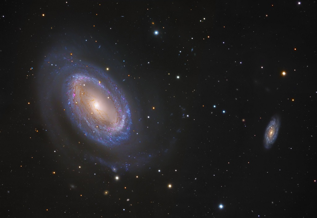 NGC 4725 & NGC 4712 , spiral galaxies in Coma Berenices