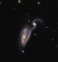 Arp 84, The Heron Galaxy