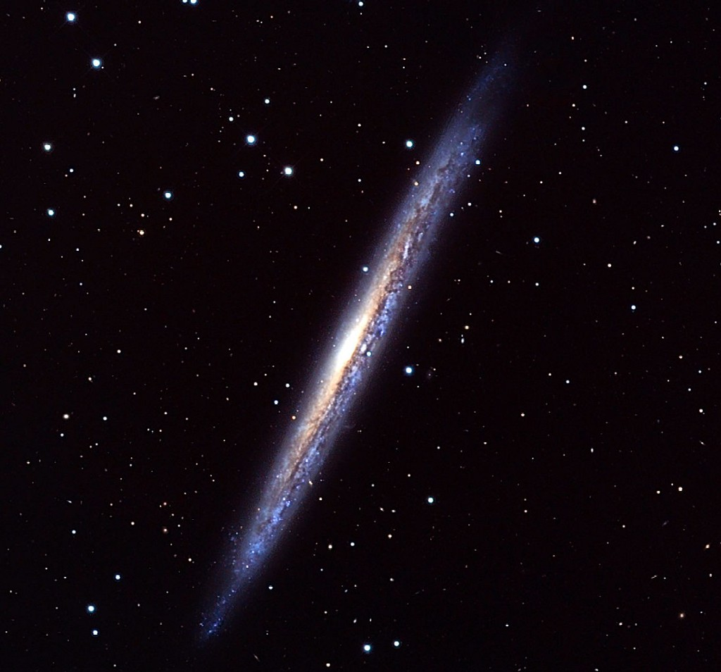NGC 5907, an edge-on spiral galaxy in Draco