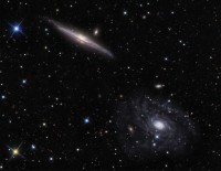 NGC 5963 & 5965, two spiral galaxies in Draco