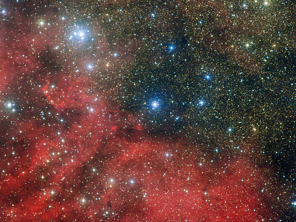 NGC 6604, an open star cluster in Serpens Cauda