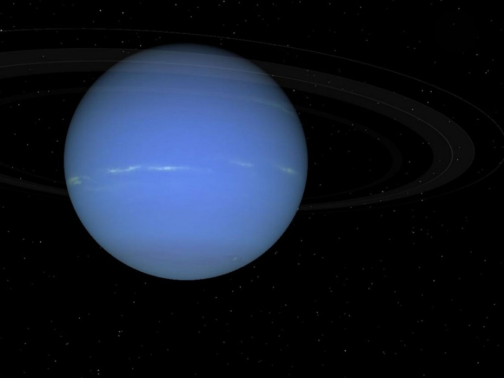 Neptune, the eighth and farthest planet from the Sun