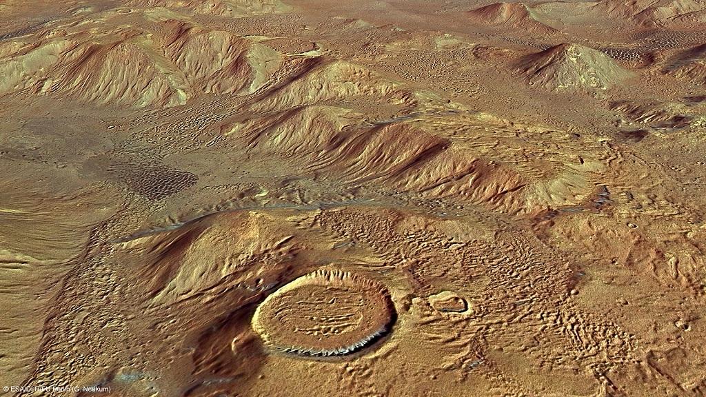 The Nereidum Montes on Mars