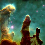 Pillars of Creation, elephant trunks in the Eagle Nebula