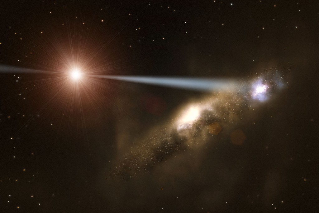 Supermassive Black Hole Jettisoned From   Spacecom