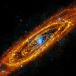 The Andromeda Galaxy (M 31 or NGC 224), about 2.54 million light-years away, in infrared