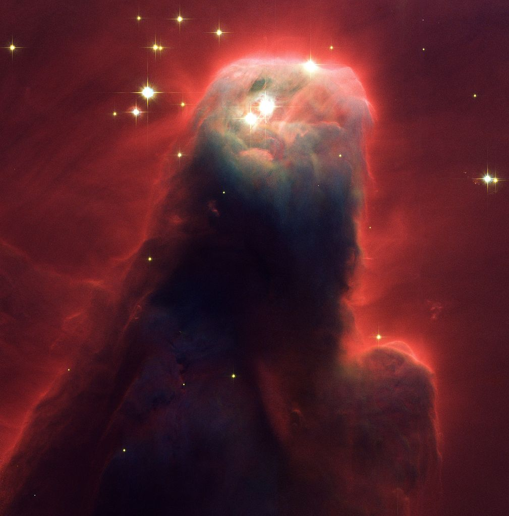 The Cone Nebula, a close-up of the upper 2.5 light-years