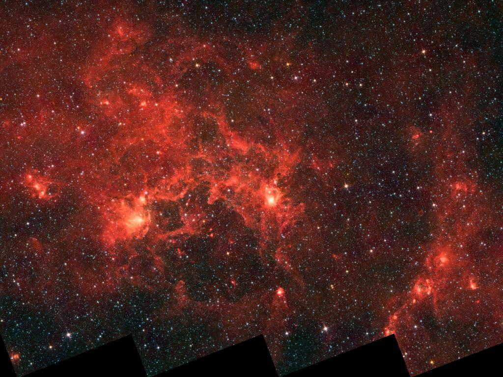 The Dragonfish Nebula, a massive emission nebula in the Crux