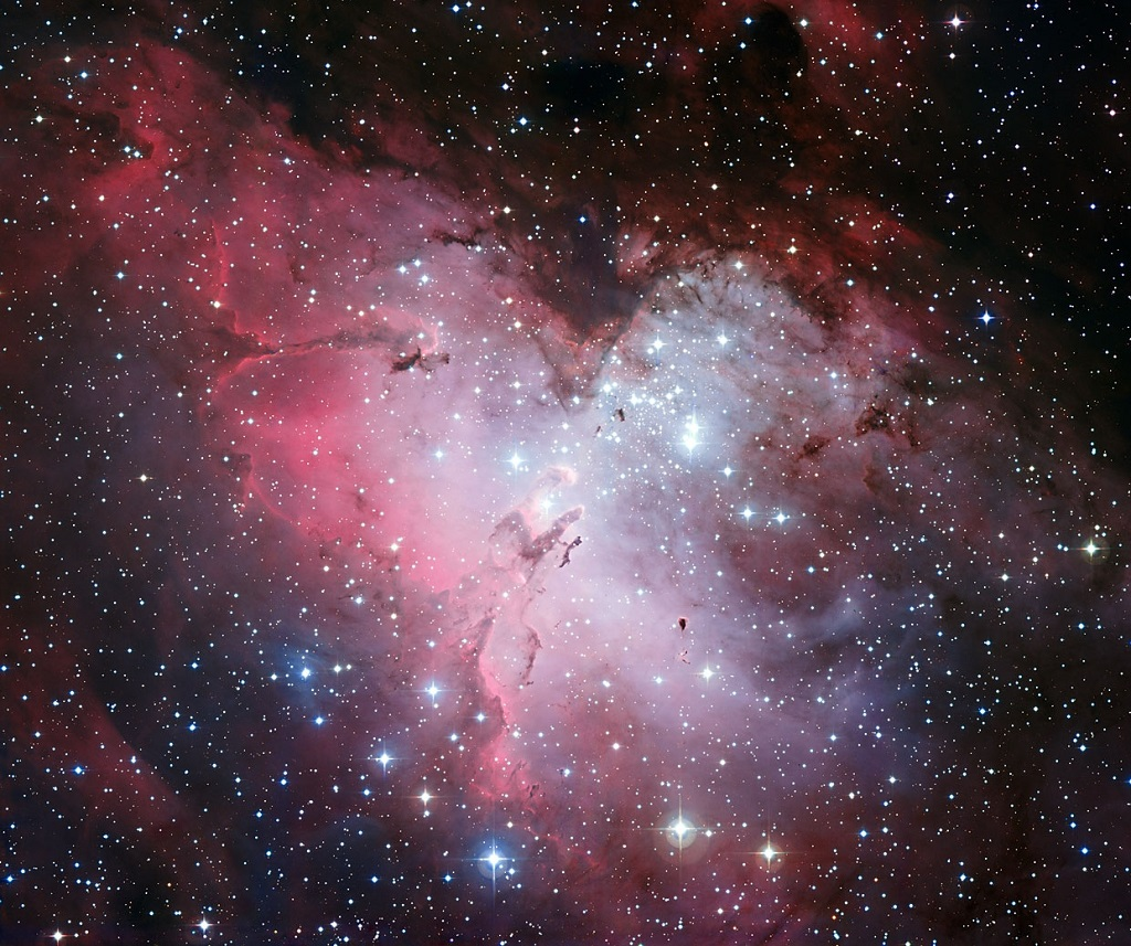 The Eagle Nebula, a star-forming region in Serpens