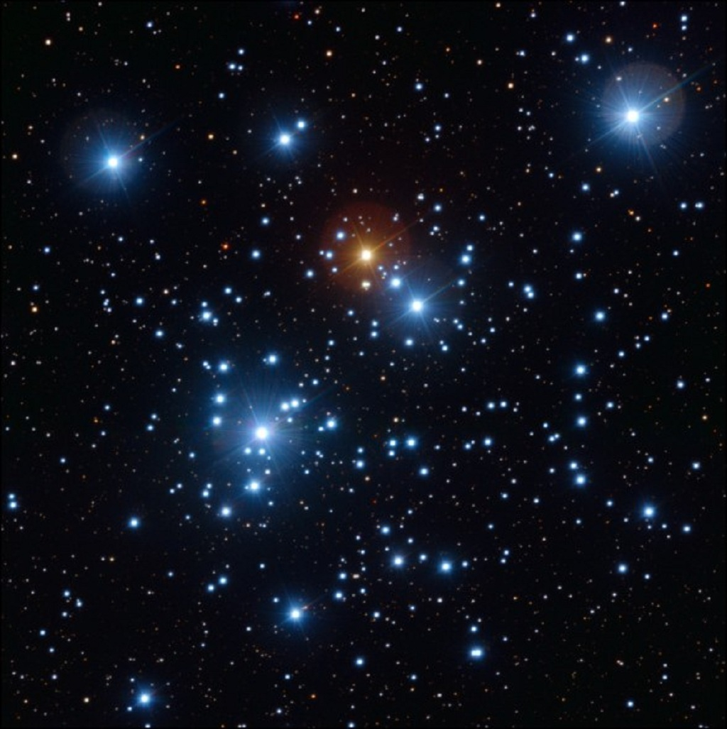 The Jewel Box cluster, in close-up