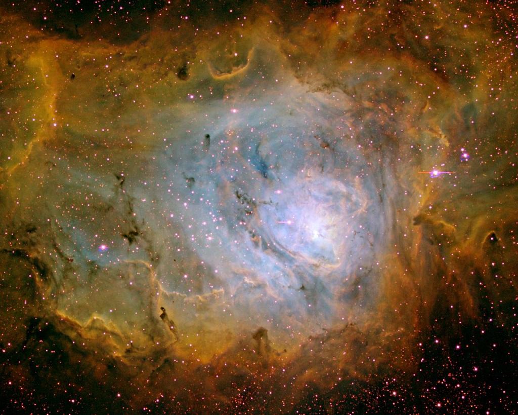The Lagoon Nebula, an emission nebula in Sagittarius