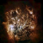 The Large Magellanic Cloud (shown here in infrared)