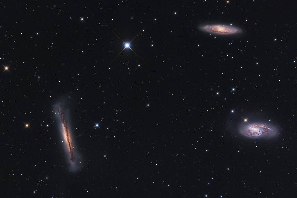 NGC 3628, Messier 65, Messier 66