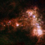 The Small Magellanic Cloud. This photo shows the galaxy in infrared light