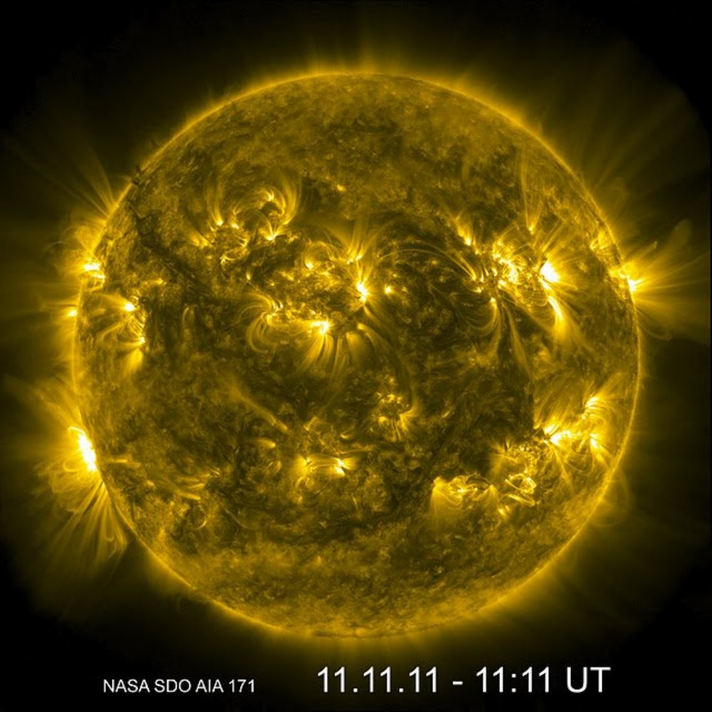 The Sun on 11-11-11 from the Solar Dynamics Observatory Spacecraft