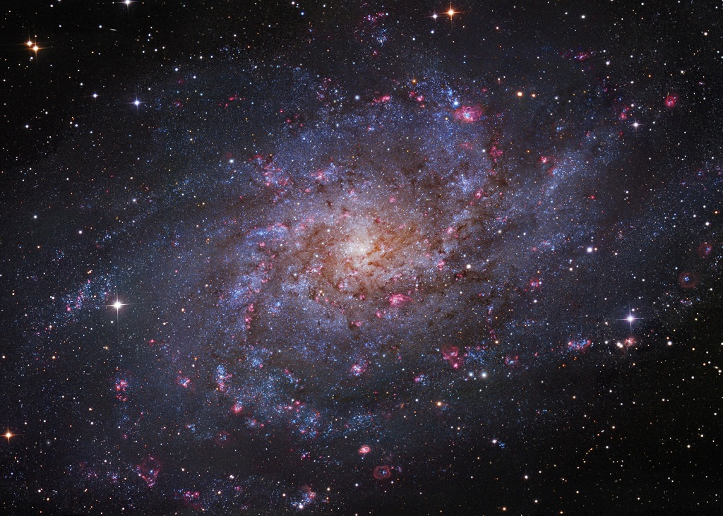 The Triangulum Galaxy, a spiral galaxy in the Local Group of Galaxies