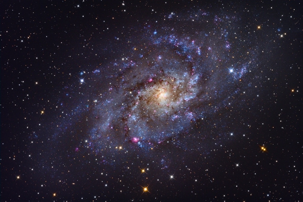 The Triangulum Galaxy, a nearby spiral galaxy