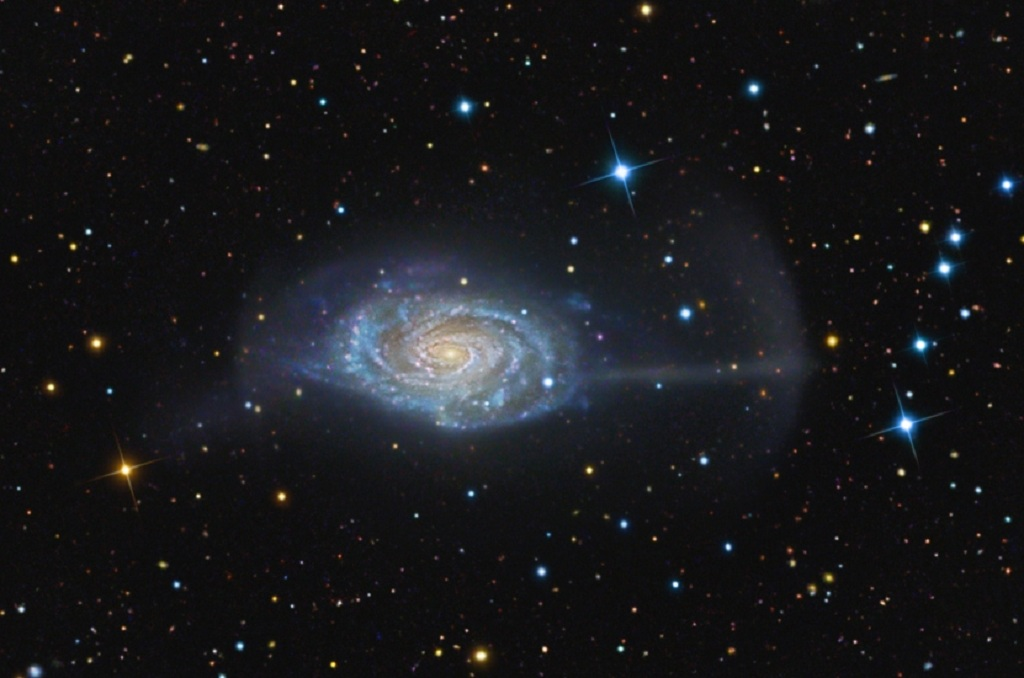 The Umbrella Galaxy, a spiral galaxy in Coma Berenices