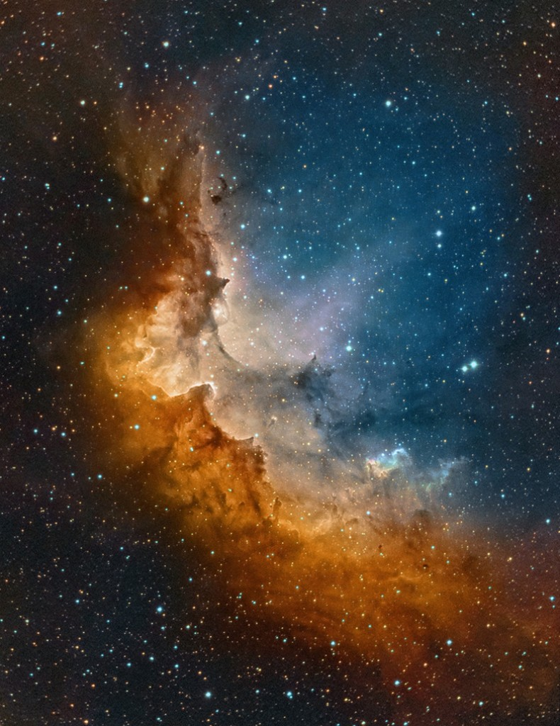 The Wizard Nebula, a nebula surrounding the star cluster NGC 7380