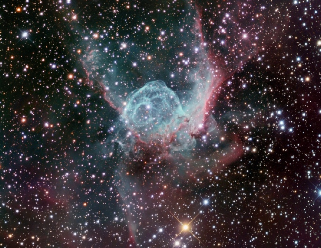 Thor's Helmet, an emission nebula in Canis Major