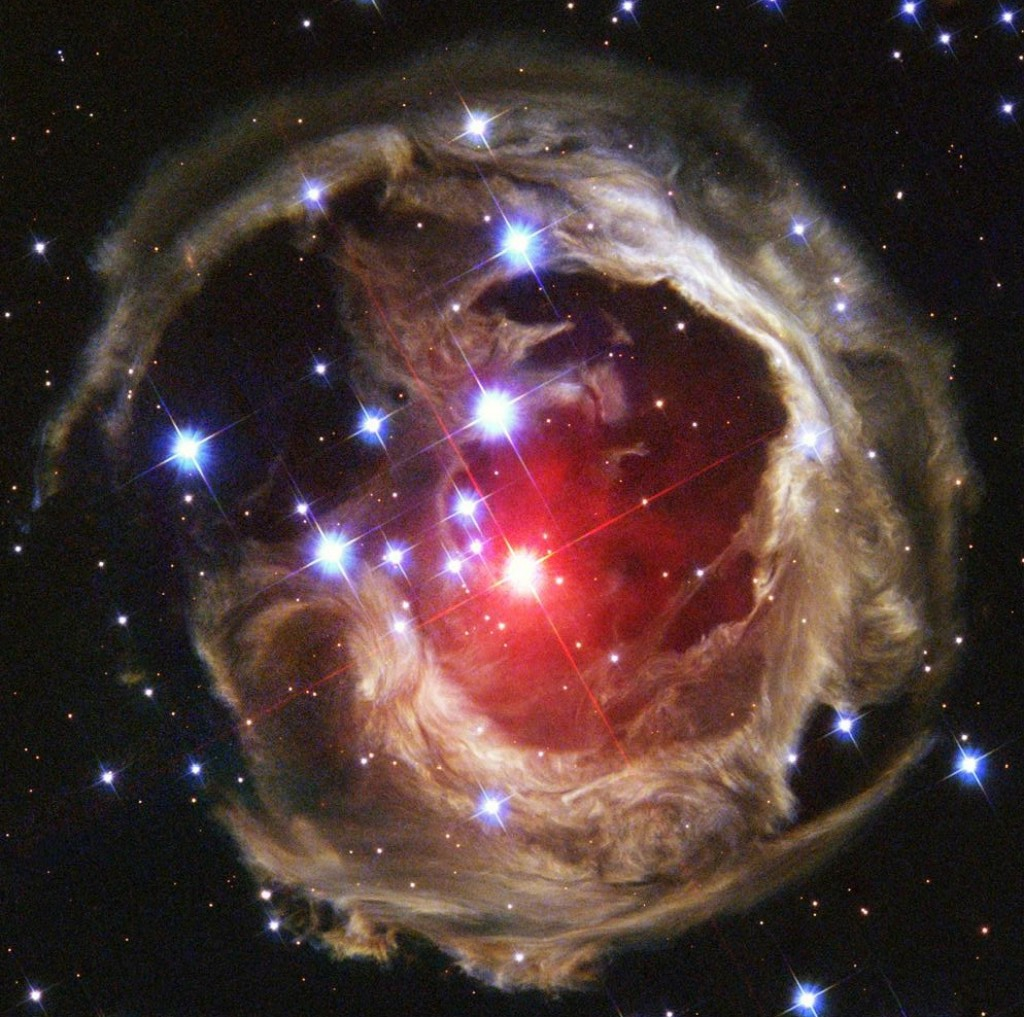 V838 Monocerotis, a star that experienced a major outburst