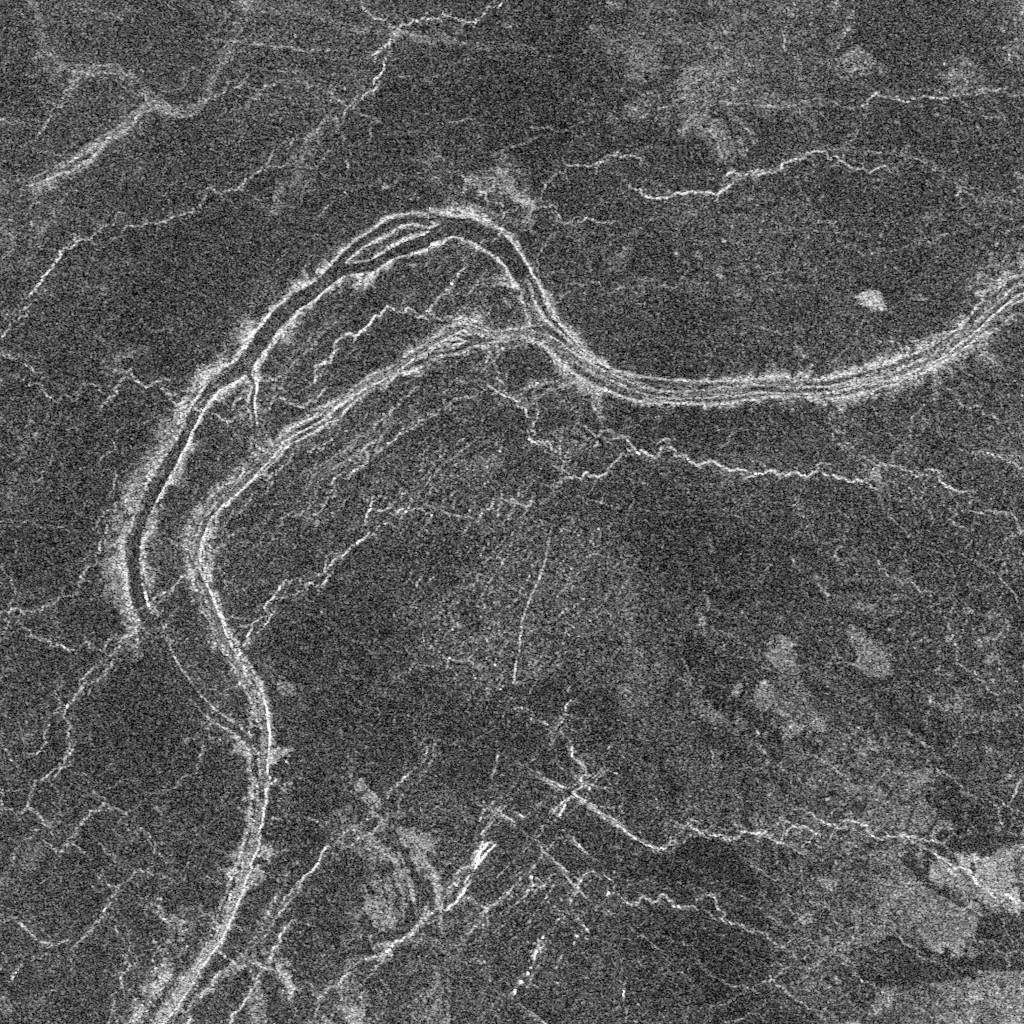 Venus' Sedna Planitia is an anastomosing 2-km-wide lava channel