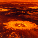 Venus'  'crater farm' computer generated 3-dimensional perspective view, consisting of the 37.3 km diameter Saskia in the foreground, 47.6 km Danilova to the left, and 62.7 km Aglaonice to the right